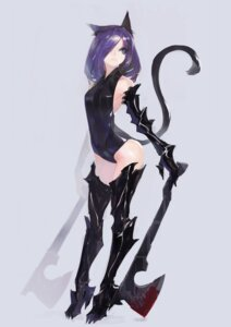 Rating: Safe Score: 48 Tags: animal_ears blood manase nekomimi tail thighhighs weapon User: Radioactive