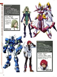 Rating: Safe Score: 5 Tags: axel_almer dress ebata_risa eg-x_soulgain hamazaki_kenichi kotobuki_tsukasa lamia_loveless mecha smsc_angelg super_robot_wars super_robot_wars_og super_robot_wars_og_the_inspector thighhighs yamane_masahiro_(animator) User: Radioactive