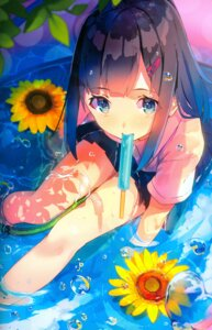 Rating: Safe Score: 81 Tags: see_through seifuku wet wet_clothes yasumo User: fireattack