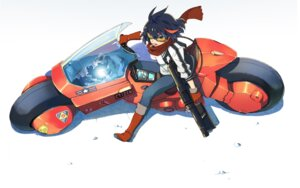 Rating: Safe Score: 24 Tags: akira_(manga) crossover gun kill_la_kill matoi_ryuuko sugi_koutarou User: vkun