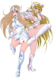 Rating: Safe Score: 16 Tags: aquila_yuna armor dress heels saint_seiya saint_seiya_omega tagme User: NotRadioactiveHonest