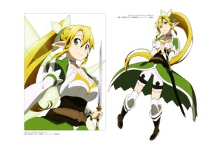 Rating: Safe Score: 38 Tags: adachi_shingo cleavage leafa nishiguchi_tomoya pointy_ears sword sword_art_online thighhighs wings User: drop