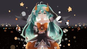 Rating: Safe Score: 49 Tags: dress halloween hatsune_miku horns kuroi_asahi vocaloid wings User: Mr_GT