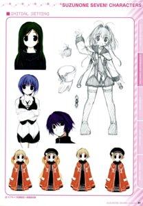 Rating: Safe Score: 3 Tags: character_design clochette daikanyama_momoko daikanyama_sumire kujou_kaname nonomura_nino oshiki_hitoshi sketch suzunone_seven User: admin2
