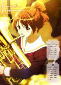 Rating: Safe Score: 40 Tags: calendar hibike!_euphonium oumae_kumiko seifuku User: drop