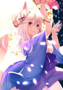 Rating: Safe Score: 10 Tags: animal_ears chita_(ketchup) japanese_clothes kitsune signed tail User: RyuZU