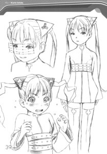 Rating: Safe Score: 9 Tags: character_design ishida_karin monochrome range_murata shangri-la sketch User: Share