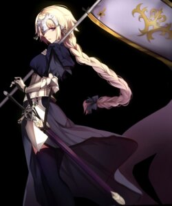 Rating: Safe Score: 70 Tags: armor fate/grand_order ruler_(fate/apocrypha) shiguru sword thighhighs User: mash