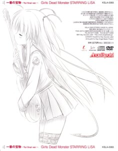 Rating: Safe Score: 9 Tags: angel_beats! guitar monochrome seifuku sketch yui_(angel_beats!) User: acas