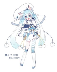 Rating: Safe Score: 52 Tags: animal_ears chuuko_anpu hatsune_miku thighhighs vocaloid yuki_miku User: nphuongsun93