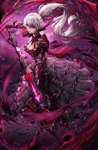 Rating: Safe Score: 9 Tags: armor cleavage dress heels sword undina User: Cold_Crime