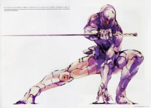 Rating: Safe Score: 27 Tags: bleed_through bodysuit gray_fox konami male metal_gear metal_gear_solid ninja shinkawa_yoji sword User: Radioactive