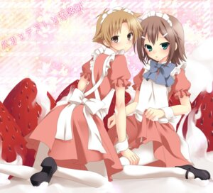 Rating: Safe Score: 39 Tags: baka_to_test_to_shoukanjuu crossdress etou kinoshita_hideyoshi maid male pantyhose trap yoshii_akihisa User: fireattack