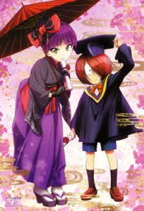 Rating: Safe Score: 17 Tags: gegege_no_kitaro heels japanese_clothes kitarou neko_musume pointy_ears seifuku shimizu_sorato umbrella User: drop