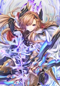 Rating: Safe Score: 30 Tags: armor granblue_fantasy song_(granblue_fantasy) thighhighs topia weapon User: Mr_GT
