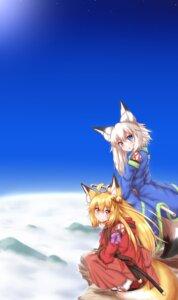 Rating: Safe Score: 8 Tags: animal_ears horokusa kitsune sword tail User: dick_dickinson