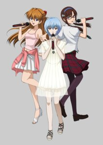 Rating: Safe Score: 31 Tags: ayanami_rei dress jpeg_artifacts makinami_mari_illustrious megane neon_genesis_evangelion pantyhose souryuu_asuka_langley summer_dress User: blooregardo