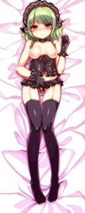 Rating: Questionable Score: 39 Tags: breasts dakimakura harigane_shinshi lingerie lolita_fashion nipples nopan pointy_ears stockings thighhighs User: Mr_GT
