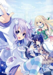 Rating: Questionable Score: 24 Tags: blanc choujigen_game_neptune cleavage dress neptune noire thighhighs tsunako vert User: Radioactive