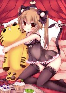 Rating: Questionable Score: 87 Tags: animal_ears duji_amo lingerie nekomimi pantsu tail thighhighs User: blooregardo
