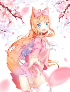 Rating: Safe Score: 61 Tags: animal_ears kitsune moong_gya pantsu seifuku shimapan tail thighhighs User: Mr_GT