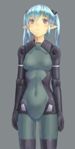 Rating: Safe Score: 20 Tags: bodysuit busou_shinki eichisu elf mecha_musume pointy_ears User: Radioactive