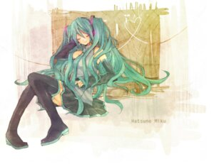 Rating: Safe Score: 11 Tags: hatsune_miku heca thighhighs vocaloid User: charunetra