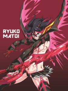 Rating: Questionable Score: 36 Tags: blood kill_la_kill matoi_ryuuko stockings suzutsuki_kurara sword thighhighs underboob User: vkun