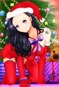 Rating: Safe Score: 13 Tags: christmas guogreen thighhighs User: charunetra
