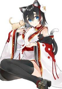 Rating: Safe Score: 34 Tags: animal_ears japanese_clothes kou_mashiro neko nekomimi tail thighhighs User: Mr_GT