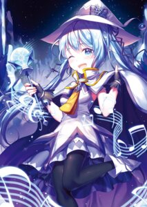 Rating: Safe Score: 30 Tags: alpha_(ypalpha79) dress hatsune_miku pantyhose vocaloid weapon witch yuki_miku User: sym455