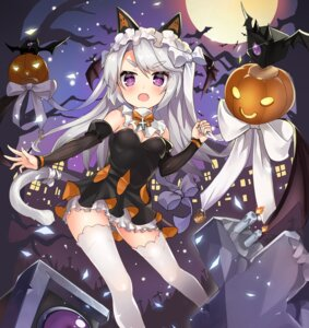 Rating: Safe Score: 52 Tags: 2drr animal_ears cleavage dress girls_frontline halloween tail thighhighs User: Mr_GT