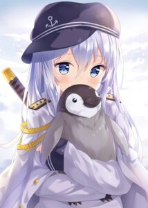 Rating: Safe Score: 104 Tags: hibiki_(kancolle) hitsukuya kantai_collection seifuku sword uniform User: Mr_GT