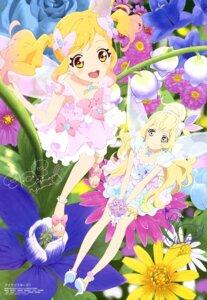 Rating: Questionable Score: 20 Tags: aikatsu! aikatsu_stars! autographed dress heels nijino_yume shiratori_hime watanabe_satomi wings User: drop