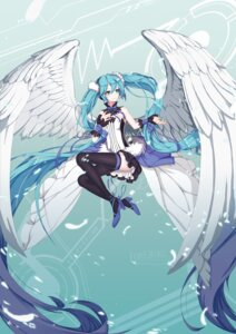 Rating: Safe Score: 62 Tags: 7th_dragon 7th_dragon_2020 dress hatsune_miku heels sugar_sound thighhighs vocaloid wings User: Mr_GT