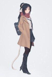 Rating: Safe Score: 20 Tags: animal_ears heels kuon_(utawarerumono) miura_naoko pantyhose seifuku tail utawarerumono User: RyuZU