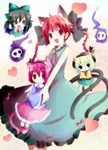 Rating: Safe Score: 13 Tags: kaenbyou_rin komeiji_koishi komeiji_satori reiuji_utsuho shichinose touhou User: fairyren