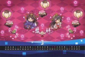 Rating: Safe Score: 6 Tags: calendar carnelian chibi kantai_collection kimono kongou_(kancolle) raw_scan User: peoplo