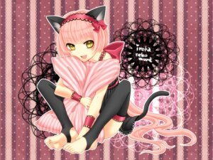 Rating: Safe Score: 18 Tags: animal_ears nekomimi nekomura_iroha tail thighhighs vocaloid wallpaper yayoi User: hobbito