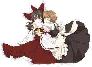 Rating: Safe Score: 3 Tags: hakurei_reimu kirisame_marisa touhou yonu User: Radioactive
