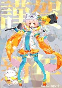 Rating: Safe Score: 22 Tags: animal_ears fujishimasei_1_gou pantsu pantyhose string_panties thighhighs weapon User: Mr_GT