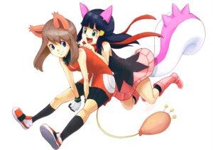 Rating: Safe Score: 21 Tags: animal_ears azuma_yukihiko cosplay haruka_(pokemon) hikari_(pokemon) pachirisu pokemon skitty tail User: minakomel