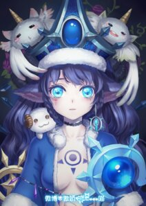 Rating: Questionable Score: 38 Tags: animal_ears destincelly league_of_legends lulu_(league_of_legends) no_bra open_shirt poro_(league_of_legends) tattoo weapon User: charunetra