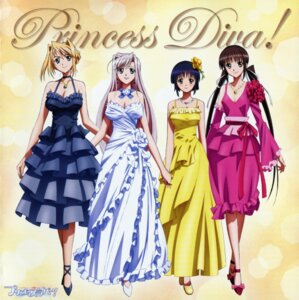 Rating: Safe Score: 37 Tags: charlotte_hazelrink cleavage disc_cover dress fujikura_yuu overfiltered princess_lover! screening seika_houjouin sylvia_van_hossen User: acas