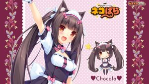 Rating: Safe Score: 59 Tags: animal_ears chibi chocolat maid neko_para neko_works nekomimi sayori tail thighhighs wallpaper User: ted423