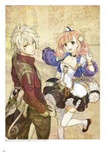 Rating: Safe Score: 21 Tags: atelier atelier_escha_&_logy cleavage digital_version escha_malier hidari jpeg_artifacts logix_ficsario thighhighs User: Shuumatsu