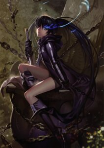 Rating: Safe Score: 93 Tags: alphonse black_rock_shooter black_rock_shooter_(character) sword vocaloid white_datura User: Aurelia