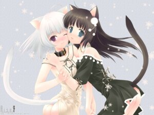 Rating: Questionable Score: 47 Tags: animal_ears nekomimi nopan rise tail touto_seiro wallpaper yuri User: together