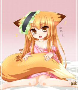 Rating: Questionable Score: 15 Tags: animal_ears kazami_karasu kitsune tail User: Shamensyth