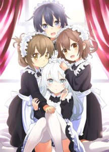 Rating: Safe Score: 65 Tags: akatsuki_(kancolle) hibiki_(kancolle) ikazuchi_(kancolle) inazuma_(kancolle) kantai_collection maid napou1031 pantsu thighhighs User: Mr_GT